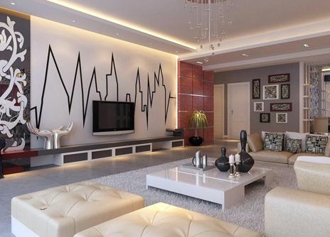 简约大气的三室两厅装修设计